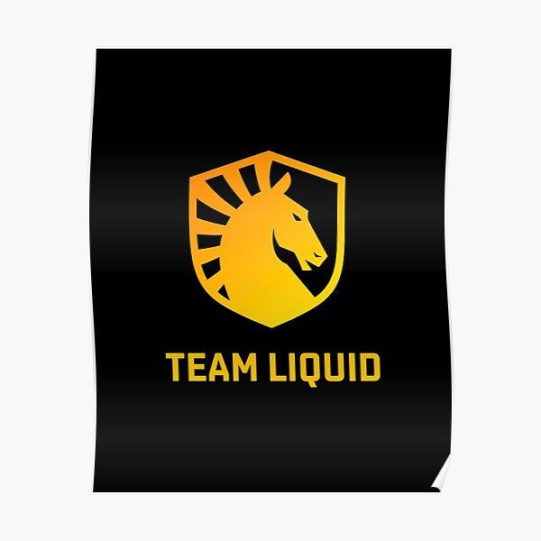 Team Liquid Golden Logo Black Edition Poster