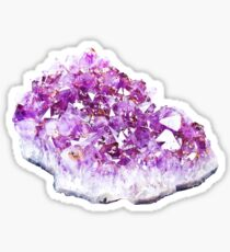 Amethyst Crystal Sticker