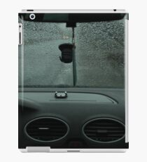 Driving in rainy weather iPad Case/Skin