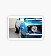 blue camero sticker and post card Sticker