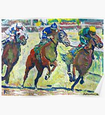 At The Horse Races, Horse Picture Poster