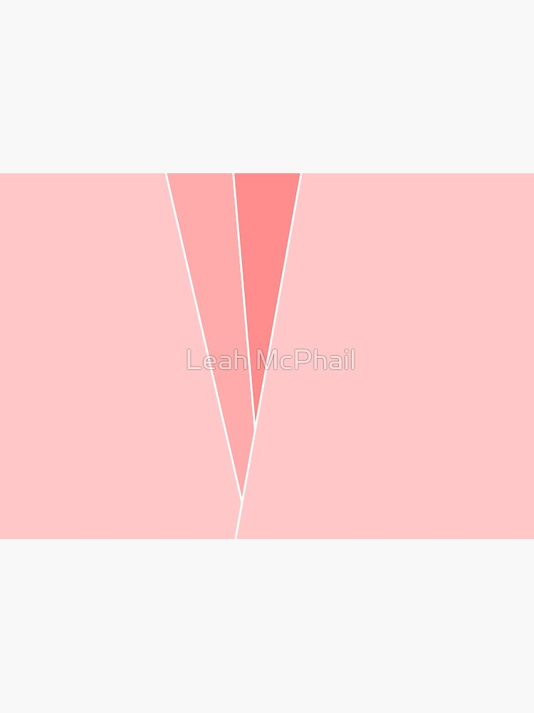 Coral Geometric Abstract  by LeahMcPhail