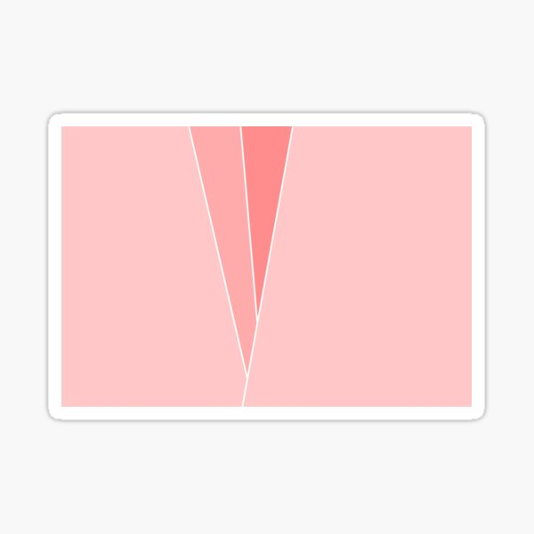 Coral Geometric Abstract  Sticker