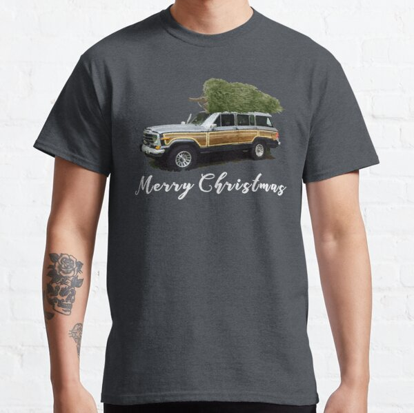 Vintage Jeep Grand Wagoneer Merry Christmas Tree on Truck Classic T-Shirt