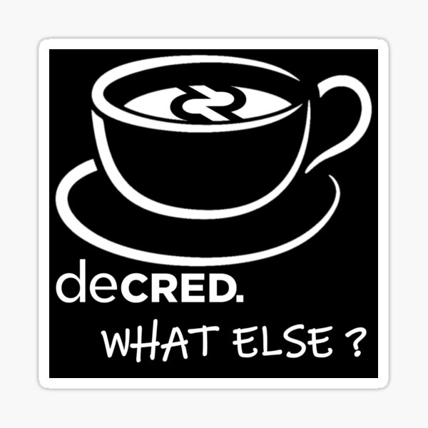 (sticker) Decred. what else? v3 Sticker