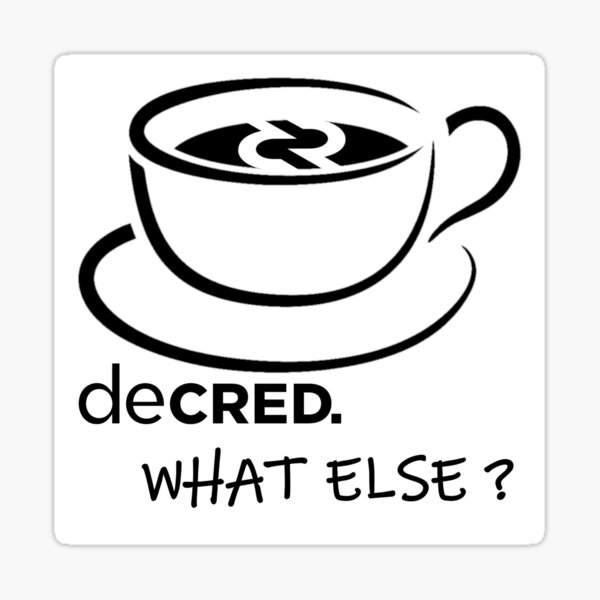 (sticker) Decred. what else? v4 Sticker
