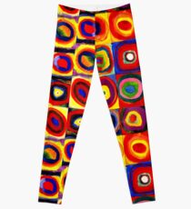 Kandinsky Modern Squares Circles Colorful Leggings