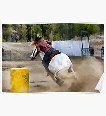Champion Barrel Racer Poster
