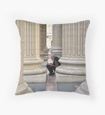 Between The Columns Throw Pillow