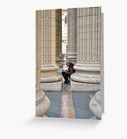 Between The Columns Greeting Card