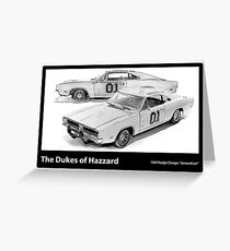 Dukes of Hazzard - 1969 Dodge Charger Greeting Card