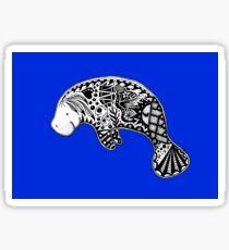 Florida Manatee Blue Sticker