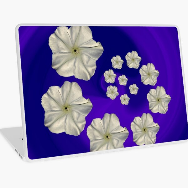Spiral Moon Flower Purple/Blue Swirl Laptop Skin