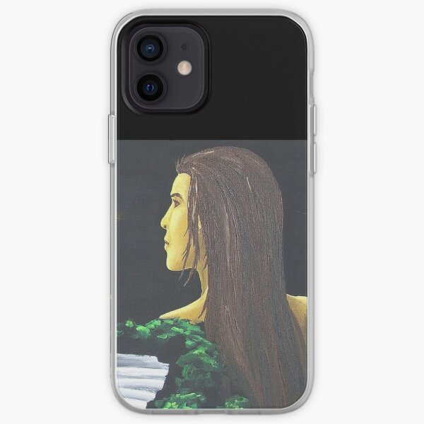 Painting fantasy surreal moon night and mysterious woman iPhone Soft Case