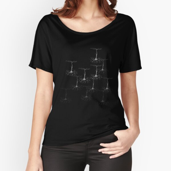Pyramidal cells on black Relaxed Fit T-Shirt