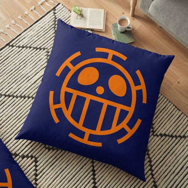 One Piece - Heart's Shield Blue/Orange Floor Pillow