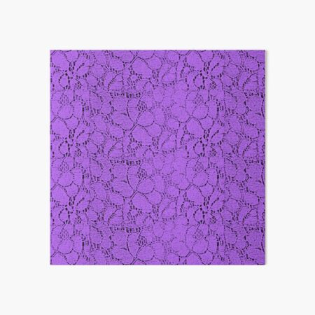 Purple lace Art Board Print