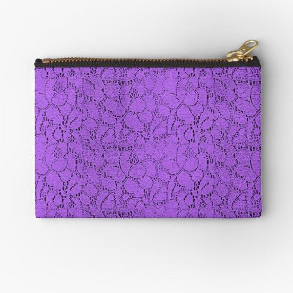 Purple lace Zipper Pouch