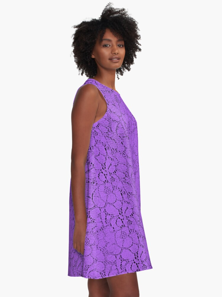 Alternate view of Purple lace A-Line Dress