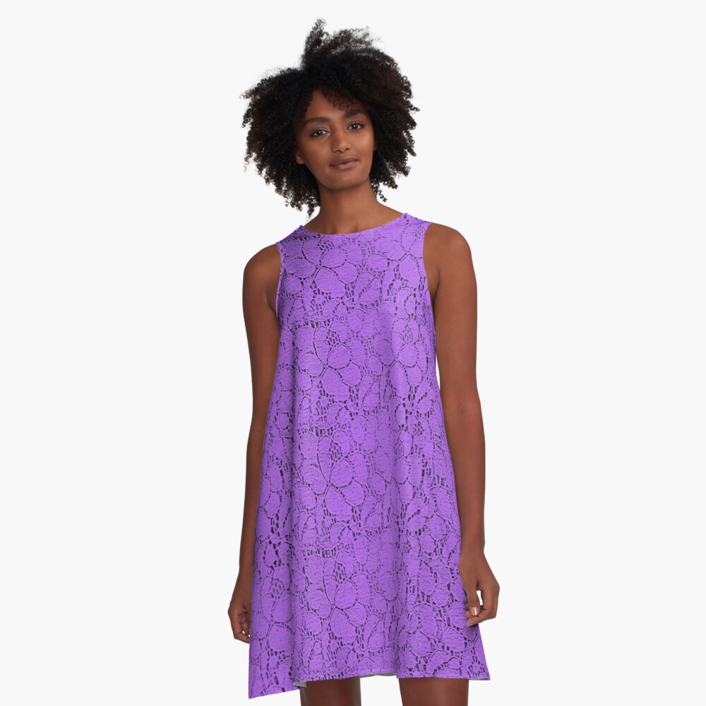 Purple lace A-Line Dress