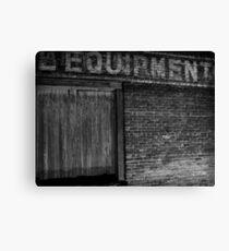 Equipment Canvas Print