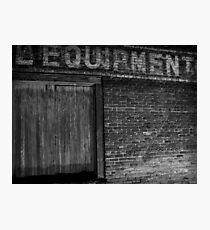 Equipment Photographic Print