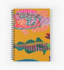 Colorful Abstract Fish Art  Spiral Notebook