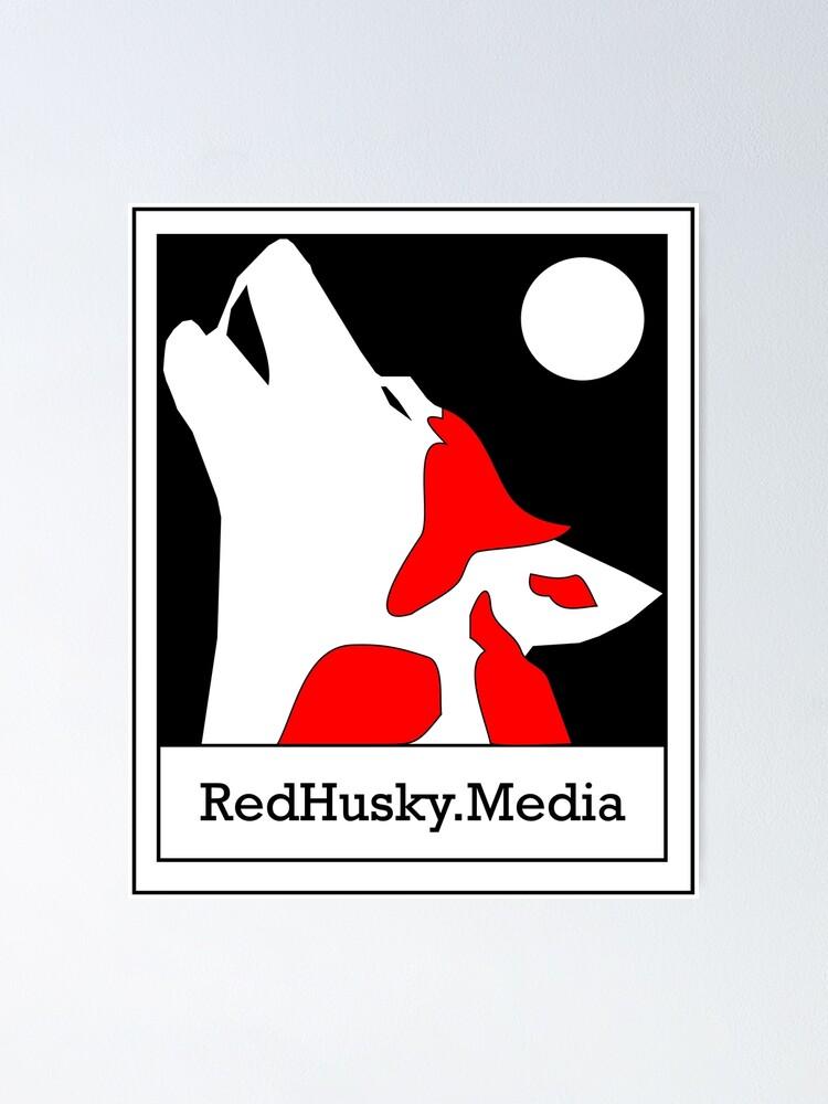 Alternate view of Red Husky Media Logo Poster