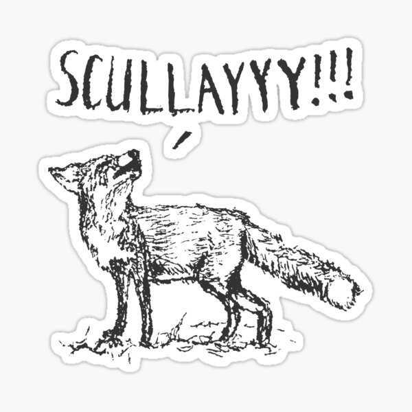 What a Certain Fox Says Sticker