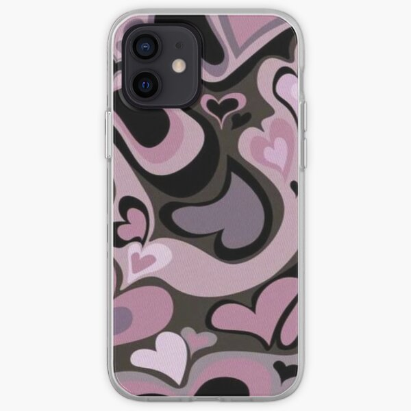 y2k pink hearts iPhone Soft Case