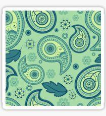 Paisley seamless green pattern Sticker