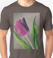 Spring blooming tulip flower original oil pastel painting T-Shirt