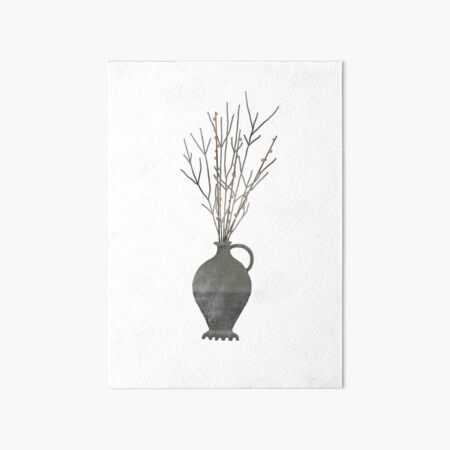 Roman vase with branches  Art Board Print
