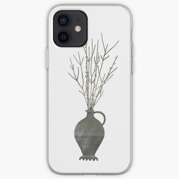 Roman vase with branches  iPhone Soft Case