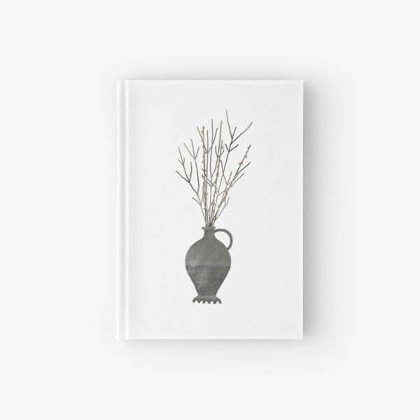 Roman vase with branches  Hardcover Journal