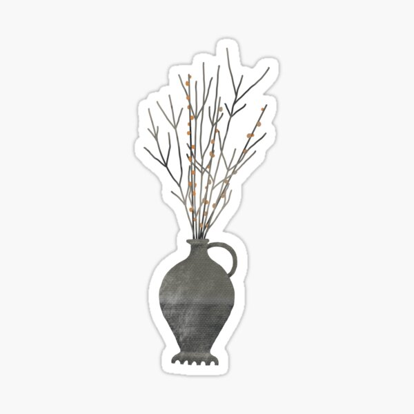 Roman vase with branches  Sticker