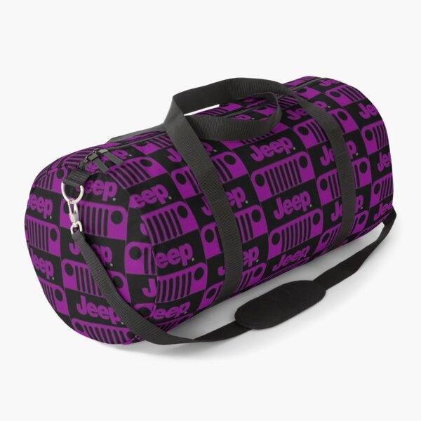 Jeep Grill (purple) Duffle Bag
