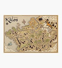 Kalos Map Photographic Print