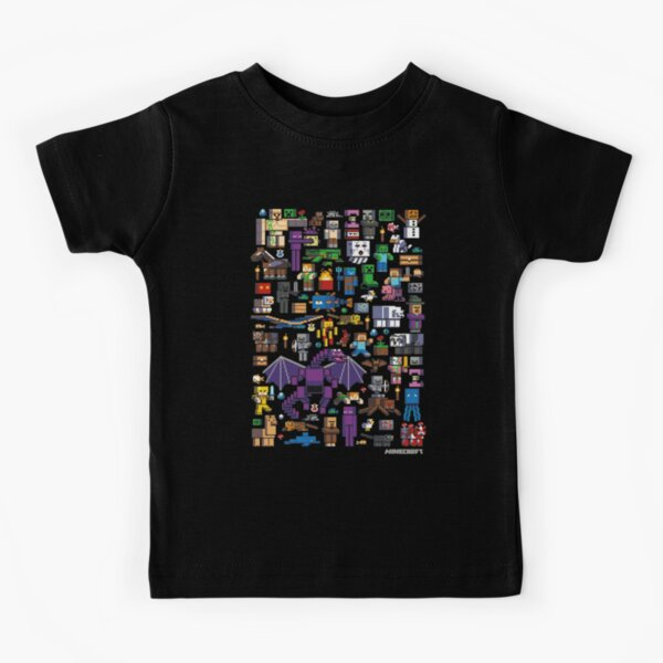 All minecraft characters . Kids T-Shirt
