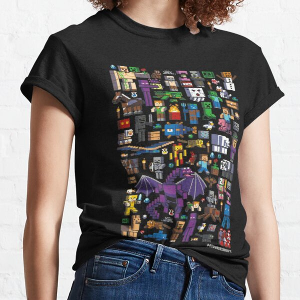 All minecraft characters . Classic T-Shirt