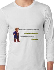 Guybrush Threepwood - Mustache Quote Long Sleeve T-Shirt