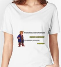 Guybrush Threepwood - Mustache Quote Women's Relaxed Fit T-Shirt