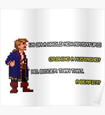 Guybrush Threepwood - Mustache Quote Poster