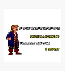 Guybrush Threepwood - Mustache Quote Photographic Print