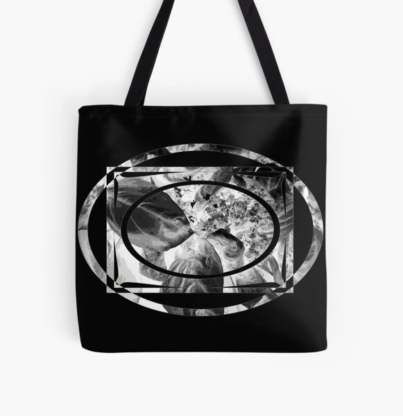 leafy nest for flowers in b&w All Over Print Tote Bag
