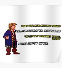 Guybrush Threepwood vs Meathook Poster