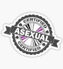 Pegatina Sello Asexual Certificado