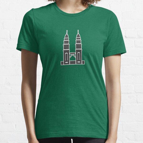 Kuala Lumpur Petronas Towers  Landmark Icon Essential T-Shirt