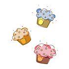 Cute muffins by JJJDesign