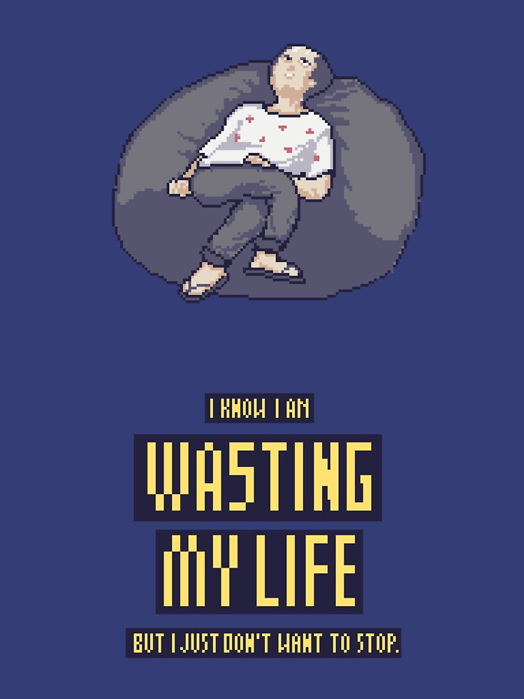 Wasting life bean bag by Mt-Front